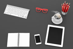 Workplace, top view Royalty Free Stock Images
