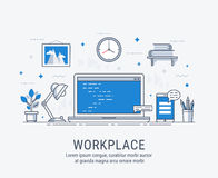 Workplace vector illustration for web Royalty Free Stock Photo