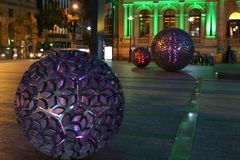 Works of art in front of the Treasury Casino, Brisbane Royalty Free Stock Photo
