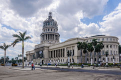 Works in the Capitolio in Havana, Cuba. Works in the Capitolio building in Havana, the capital of Cuba Royalty Free Stock Photography