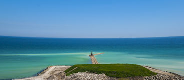 Works for coastal protection in Constanta, Romania Royalty Free Stock Photography