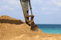 It works great excavator Royalty Free Stock Photos