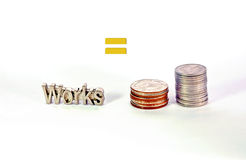 Works means getting money Royalty Free Stock Images