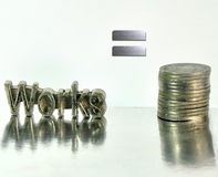 Works for money Stock Photography