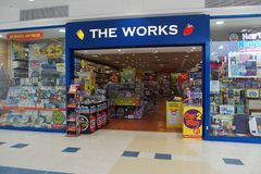THE WORKS SHOP FRONT IN ORPINGTON UK royalty free stock photo