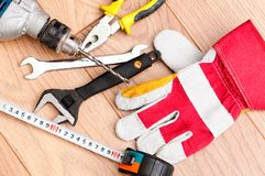 Works tools Royalty Free Stock Images