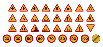 Works Traffic Signs Stock Photography