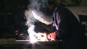 Works 11 Welder with Welding Electrode stock footage