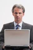 He works wireless Royalty Free Stock Photos