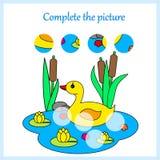 Worksheet dla dzieciaków Uzupełnia obrazek, gra dla dzieci ilustracji