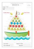 Worksheet: Identify & Count Basic Shapes Royalty Free Stock Photography