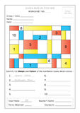 Worksheet - Identify Shape & Colour Stock Image