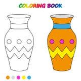 worksheet VASO - libro da colorare Illustrazione del fumetto di vettore illustrazione vettoriale