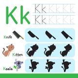 Worksheet vector design for kid royalty free illustration