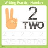 Worksheet Writing praktyki numer dwa Zdjęcia Stock