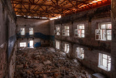 Workshop of abandoned factory. Dilapidated workshop of the abandoned factory Stock Images