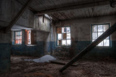 Workshop of abandoned factory Stock Images