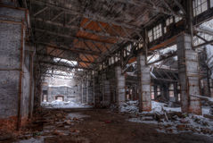 Workshop of abandoned factory Royalty Free Stock Photo
