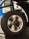 Workshop. Adjestment wheels in modern workshop Stock Image