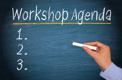 Workshop Agenda with Checklist Royalty Free Stock Images