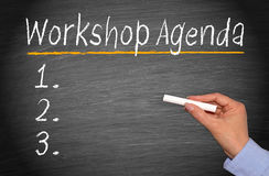 Workshop Agenda Stock Image