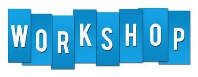 Workshop Blue Stripes Royalty Free Stock Photography