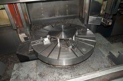 Workshop: boring machine, detail Stock Photo