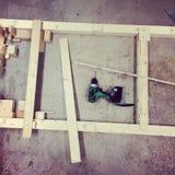 Workshop. A carpentry workshop Royalty Free Stock Images