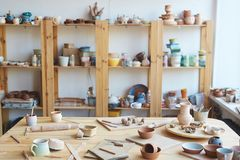 Workshop of ceramic master Stock Photography