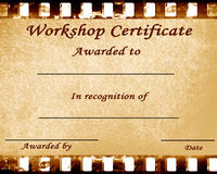 Workshop certificate Stock Photos
