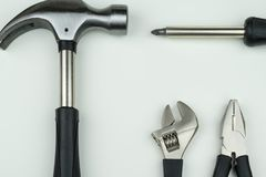 Workshop concept : construction tool metal equipment industrial Stock Photos