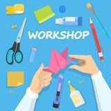 Workshop concept. Idea of education and creativity stock illustration