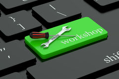 Workshop concept on keyboard button Royalty Free Stock Image