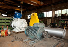 Workshop: construction of vacuum pumps Stock Images
