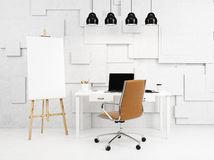 Workshop with an easel Royalty Free Stock Images