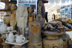 Workshop in Egypt, where they make toys and sculptures of wood a royalty free stock photo