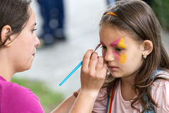 Workshop with face painting for children 6 Royalty Free Stock Images