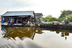 Workshop of a floating village.  Stock Photos