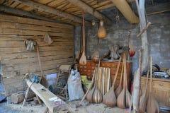 Workshop of folk music instruments Royalty Free Stock Photos