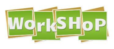 Workshop Green Blocks Stock Images