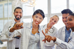 Workshop for medical school students Stock Photo