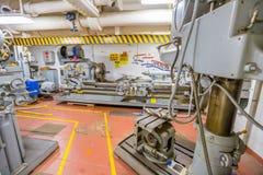 Workshop of Missouri Battleship Royalty Free Stock Images