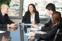 Workshop in a panorama office Royalty Free Stock Photo