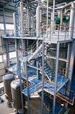 Workshop of Petrochemical industry Royalty Free Stock Image