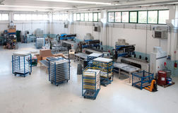 Workshop for polymer sealing Stock Images