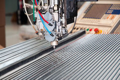 Workshop for polymer sealing. Workshop with modern machines for polymer sealing Stock Photos