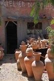Workshop Potter-Ceramist-Marocco-Pottery Stock Photo