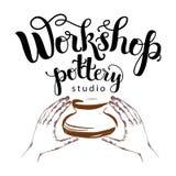 Workshop pottery studio logo Stock Photography