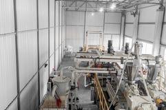 Workshop for production of polypropylene and polyethylene Stock Image