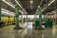 Workshop rail cars Stock Photo